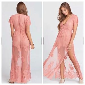 SMYM Maxi Romper in Terra Cotta, size Small, lace